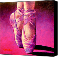 Contemporary Dance Painting Canvas Prints - Ballet Shoes  II Canvas Print by John  Nolan
