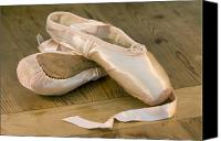 Ribbons Canvas Prints - Ballet shoes Canvas Print by Jane Rix