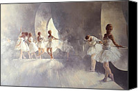 Dancers Canvas Prints - Ballet Studio  Canvas Print by Peter Miller