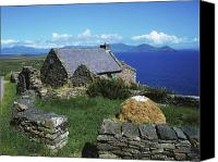 Farm Houses Canvas Prints - Ballinskelligs, Iveragh Peninsula Canvas Print by The Irish Image Collection 