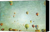 Balloon Fiesta Canvas Prints - Balloon Fantasy Canvas Print by Andrea Hazel Ihlefeld