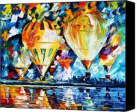Afremov Canvas Prints - BALLOON FESTIVAL new Canvas Print by Leonid Afremov
