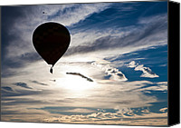 Landscapes Special Promotions - Balloon over Sky Canvas Print by Jiayin Ma