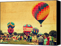 4th July Canvas Prints - Balloon Rally Canvas Print by Kathy Jennings