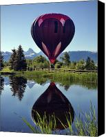 Balloon Festival Canvas Prints - Balloon Reflection Canvas Print by Leland Howard