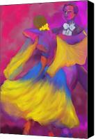 Deborah Lee Canvas Prints - Ballroom Dancers Canvas Print by Deborah Lee