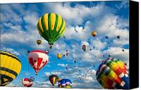 Baloons Canvas Prints - Baloons Galore Canvas Print by Gale H Rogers 
