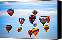 Balloon Fiesta Canvas Prints - Baloons Canvas Print by Ralf Kaiser
