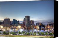 Skyline Canvas Prints - Baltimore Harbor Canvas Print by Shawn Everhart