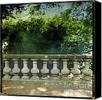 Lush Foliage Canvas Prints - Balustrade Canvas Print by Bernard Jaubert