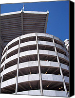 Modern Architecture Sculpture Canvas Prints - BAMA Stadium Canvas Print by Vickie Viragh