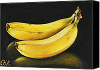 Fruits Drawings Canvas Prints - Banana Canvas Print by Christine Karron