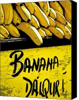 Food And Drink Canvas Prints - Banana Daiquiri Canvas Print by Barb Pearson