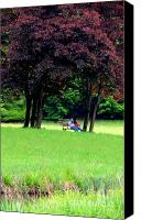 Parcs Canvas Prints - Banch For Two Canvas Print by Valia Bradshaw