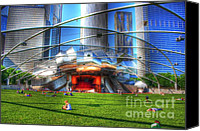 Magnificent Mile Digital Art Canvas Prints - Band Shell Canvas Print by Dan Stone