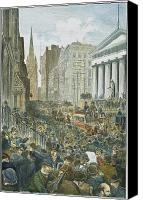 1884 Canvas Prints - Bank Panic, 1884 Canvas Print by Granger