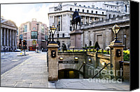 Entrance Canvas Prints - Bank station entrance in London Canvas Print by Elena Elisseeva