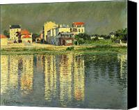La Seine Canvas Prints - Banks of the Seine at Argenteuil Canvas Print by Gustave Caillebotte