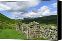 Stone Wall Canvas Prints - Bannerdale Canvas Print by photography by Linda Lyon