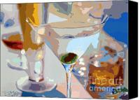 Bars Painting Canvas Prints - Bar Drinks Canvas Print by David Lloyd Glover