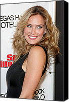 Nightclub Canvas Prints - Bar Refaeli At Arrivals For Club Si Canvas Print by Everett