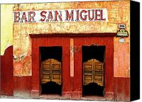 Portal Canvas Prints - Bar San Miguel Canvas Print by Olden Mexico