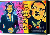 Conservative Painting Canvas Prints - Barack and Michelle Canvas Print by Tony B Conscious
