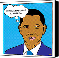 Barrack-obama Canvas Prints - Barack Obama - Change has come to America Canvas Print by Yvan Goudard