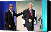 At A Public Appearance Canvas Prints - Barack Obama, Bill Clinton At A Public Canvas Print by Everett
