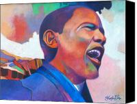 Barack Obama  Canvas Prints - Barack Obama Canvas Print by Glenford John