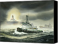 Tugboat Canvas Prints - Barbara Foss Canvas Print by James Williamson