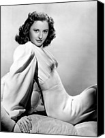 Publicity Shot Canvas Prints - Barbara Stanwyck, Warner Brothers, 3746 Canvas Print by Everett