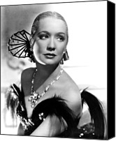 1935 Movies Canvas Prints - Barbary Coast, Miriam Hopkins, 1935 Canvas Print by Everett