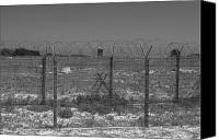 Barbed Wire Fence Canvas Prints - Barbed Wire Fence Canvas Print by Aidan Moran