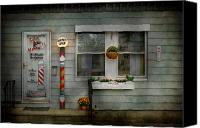 Barber Canvas Prints - Barber - Belvidere NJ - A Family Salon Canvas Print by Mike Savad