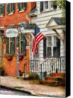 Thank Canvas Prints - Barber - Kellers Barber Shop Canvas Print by Mike Savad