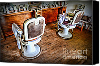 Dresser Canvas Prints - Barber - The Barber Shop 2 Canvas Print by Paul Ward
