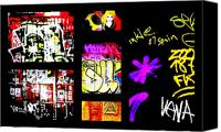 Barcelona Digital Art Canvas Prints - Barcelona Graffiti  Canvas Print by Funkpix Photo  Hunter