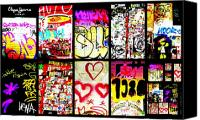 Barcelona Digital Art Canvas Prints - Barcelona Graffiti Wall  Canvas Print by Funkpix Photo  Hunter