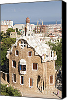 Parc Guell Canvas Prints - Barcelona Parc Guell Canvas Print by Matthias Hauser