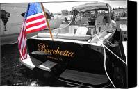 Boat Pyrography Canvas Prints - Barchetta Canvas Print by Russell Todd