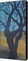 Rafael Gonzales Canvas Prints - Bare Tree On A Hill Canvas Print by Rafael Gonzales