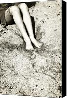 Barefoot Canvas Prints - Barefoot In The Sand Canvas Print by Joana Kruse