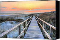 Boardwalks Photo Canvas Prints - Barefoot Canvas Print by JC Findley