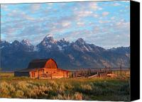 Morning Sun Canvas Prints - Barn 2 Canvas Print by Vijay Sharon Govender