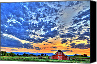 Barn Canvas Prints - Barn and Sky Canvas Print by Scott Mahon