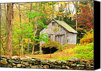 New England Canvas Prints - Barn Art - Rustics on Music Mountain Canvas Print by Thomas Schoeller