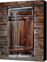 Log Cabins Canvas Prints - Barn Door Canvas Print by Robert Margetts