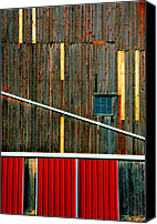 Abstract Building Canvas Prints - Barn Graphics Canvas Print by Steven Ainsworth