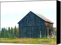 Sue Jenkins Canvas Prints - Barn In Autumn Canvas Print by Sue Jenkins